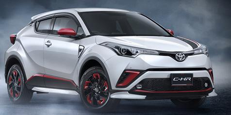 Inilah Tampilan Toyota C-HR Full Aksesori