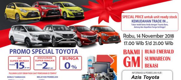 Promo Spesial Dealer Toyota Bekasi Year End Sale 2018
