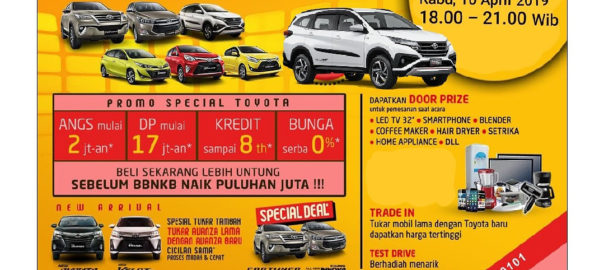 Hadirilah TOYOTA FESTIVAL Customer GATHERING April 2019